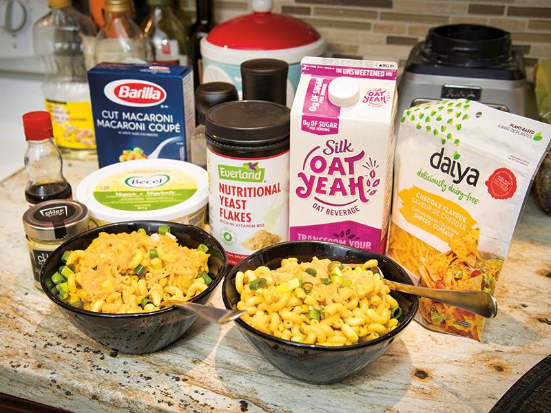 Vegan ingredients on a countertop